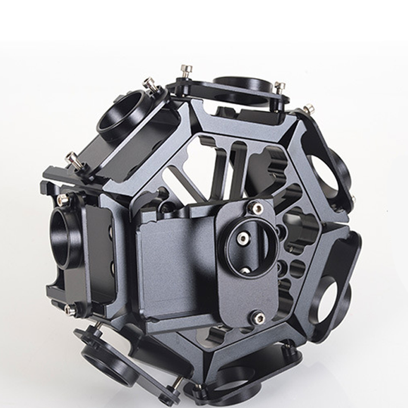 YY-G8 GoPro Accessories Panoramic PTZ Bracket 8 in 1 Aluminum Alloy Housing Protective Cage for GoPro