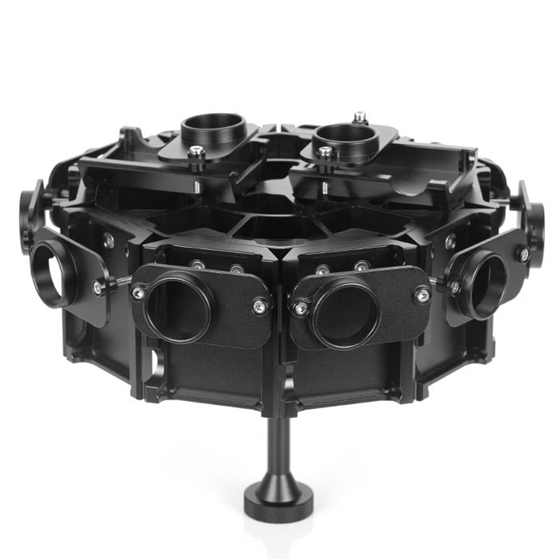 YY-G12 GoPro Accessories 720 Degrees Panoramic PTZ Bracket 12 in 1 Aluminum Alloy Case Protective Cage