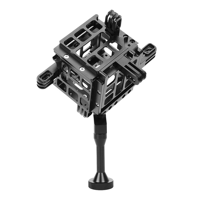 G5F6C GoPro5 Accessories Diving Panoramic Bracket 6 in 1 Aluminum Alloy Housing Protective Cage