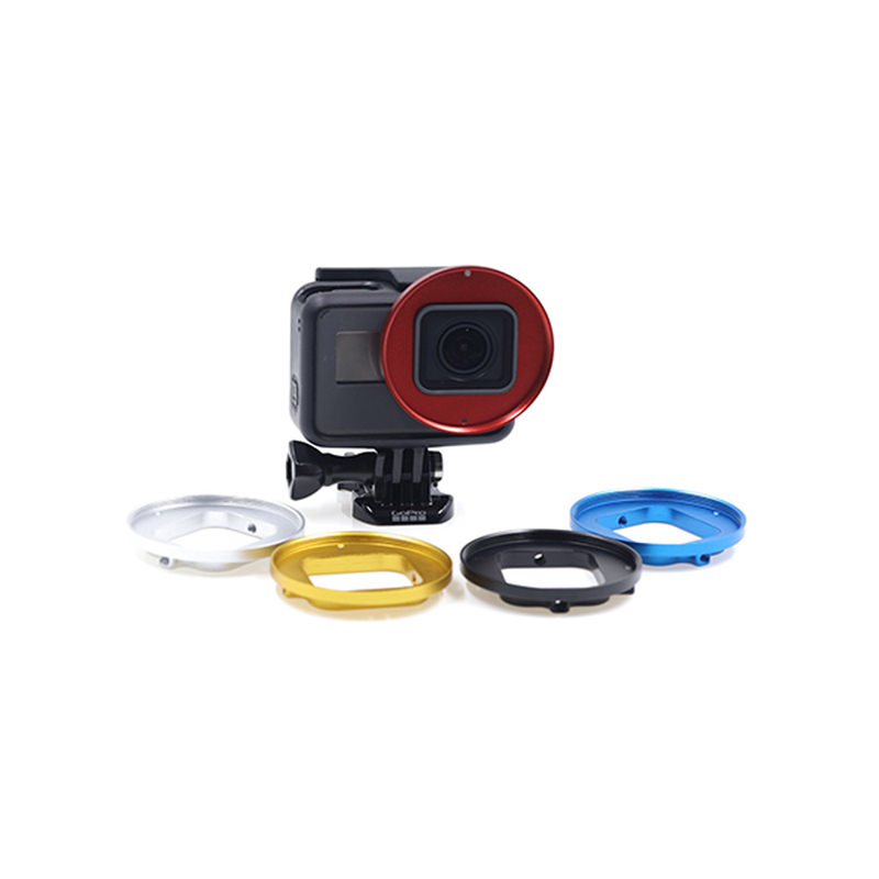 Camera Diving Filter Adapter Mount 52mm UV Polarized Filter Adapter For GoPro Hero Camcorders Accessories