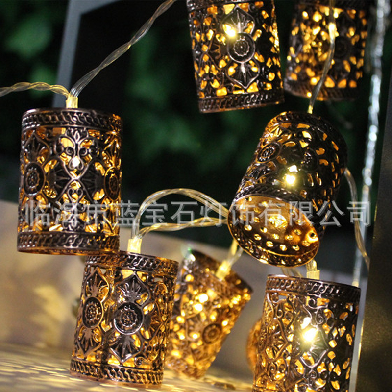 Retro Round Lantern Battery Operated Led Fairy String Christmas Lights DIY for Christmas Xmas Tree Wedding Party Decor