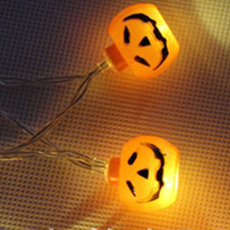 2M 20LED Pumpkin Halloween String Lights Yellow Color AA Battery Power Props Decorations Supplies Home Party Decor