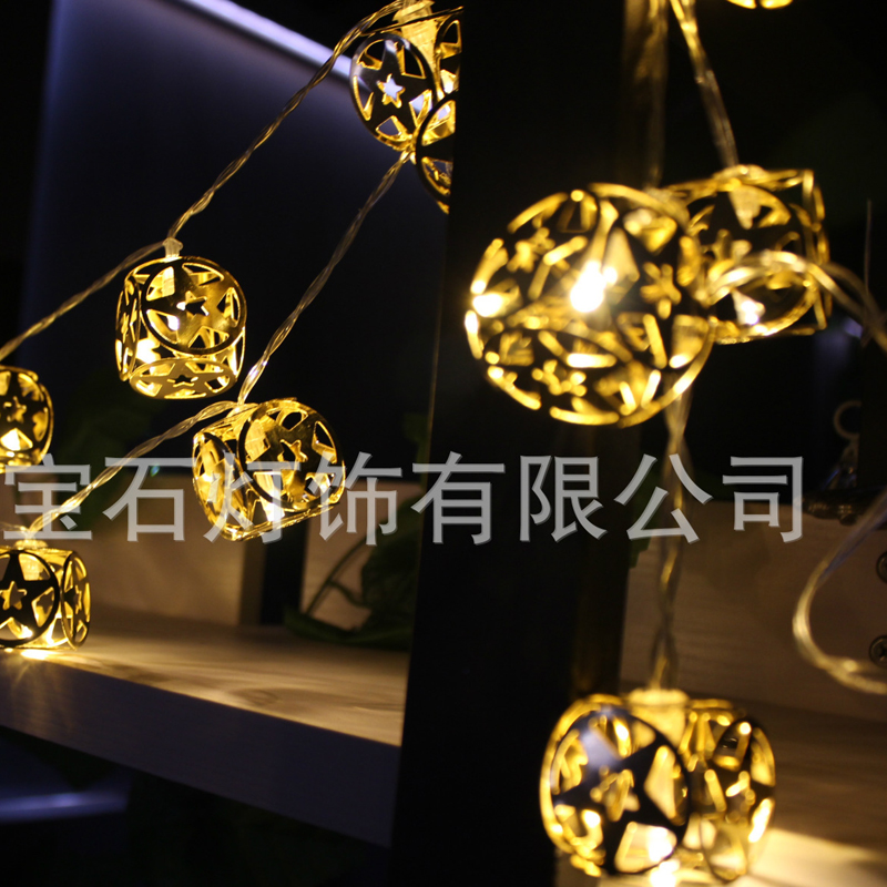 1M 10LED Light String Cube With Stars Fairy Lights Christmas Window Curtains Party Wedding Room House Decor