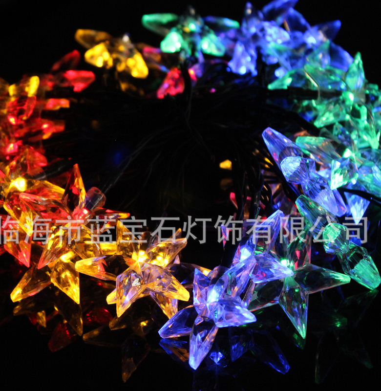 2.2M 20LED 3AA Battery Powered STAR Shaped Theme LED String Fairy Lights Christmas Holiday Wedding Decoration Party Lighting