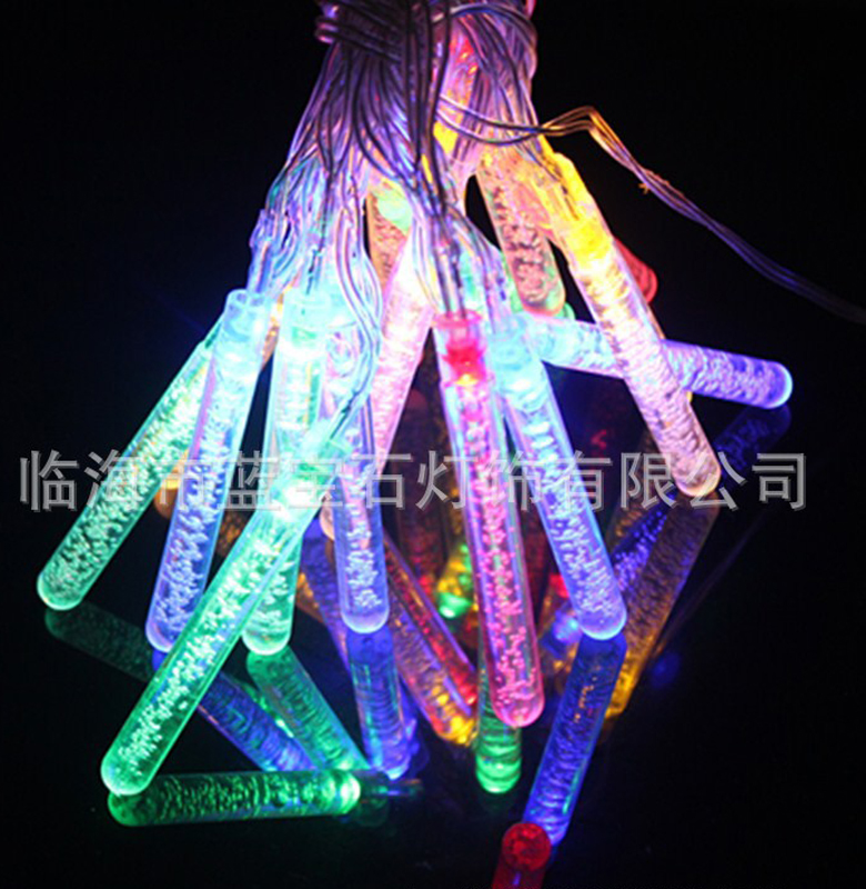 20LED Holiday String Light Bubble Tube String Lights Solar Garden Crystal Sticks Fairy Homes Christmas Party Xmas Wedding