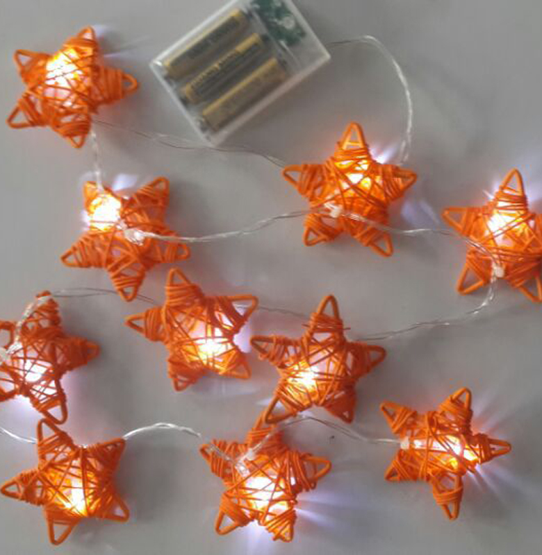 10LED Star Style Battery Powered String Lights LED Fairy Lights Decoration Light For Festival Christmas Party Wedding