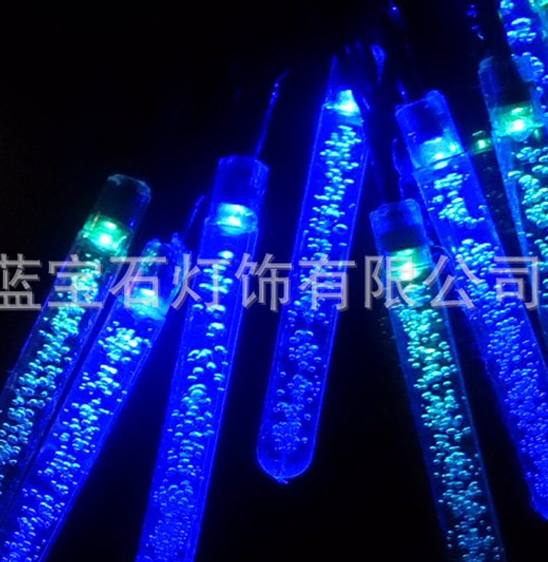 1M 10LED Holiday LED Bubble Tube String Lights Battery Operated Garden Crystal Sticks Fairy Christmas Party Xmas Wedding Decorat