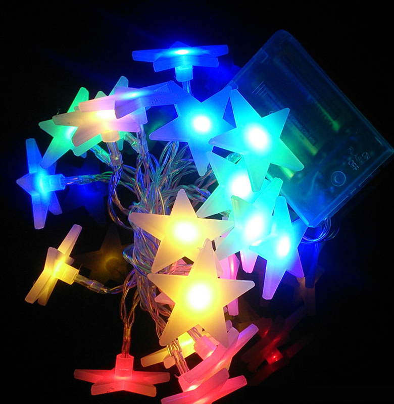 5M 20LED Led Solar String Light Little Star Christmas Decoration Led Ice Strip New Year Indoor Use Light Garland