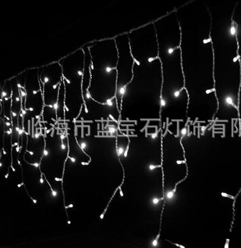 100LED Holiday Festival Curtain Wedding Lights LED String Strip Ice Bar Lamp Garlands