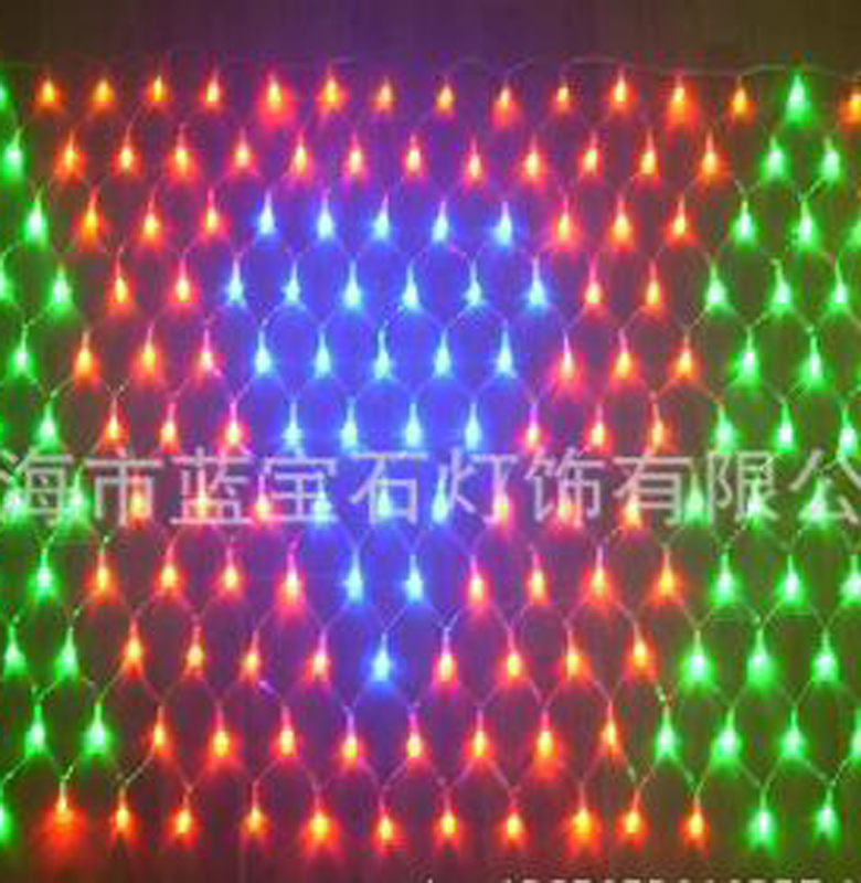 120LED String Fairy Net Light Mesh Curtain Ceiling Garden Plant Christmas Wedding Decoration LED Lamp 220V