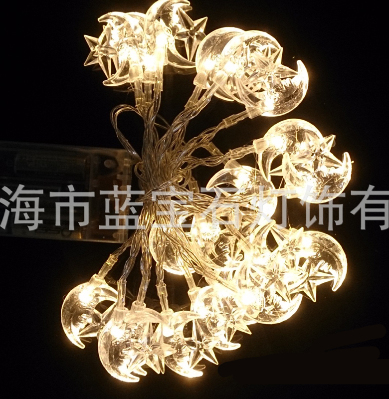 2.2M 20LED Decoration Moon Shape LED String Lights Christmas New Year Holiday Party Wedding Lamp Lighting Bedroom