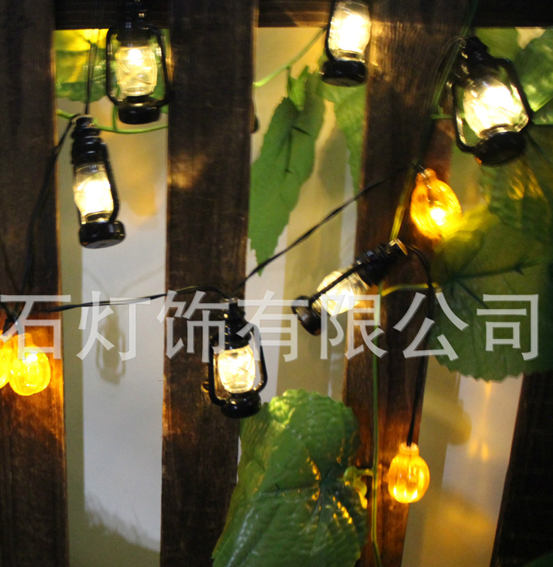 5M 20LED Kerosene Lamp Style Novelty Outdoor Solar Lighting String Lamps White Wire Christmas Lights Fairy Wedding Garden