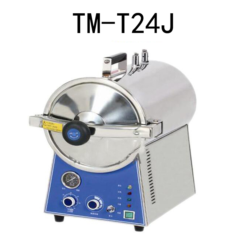 TM-T24J Desktop Quick Steam Sterilizer Dental Oral Disinfection Cabinet Stainless Steel Sterilization Pot Pressure Cooker