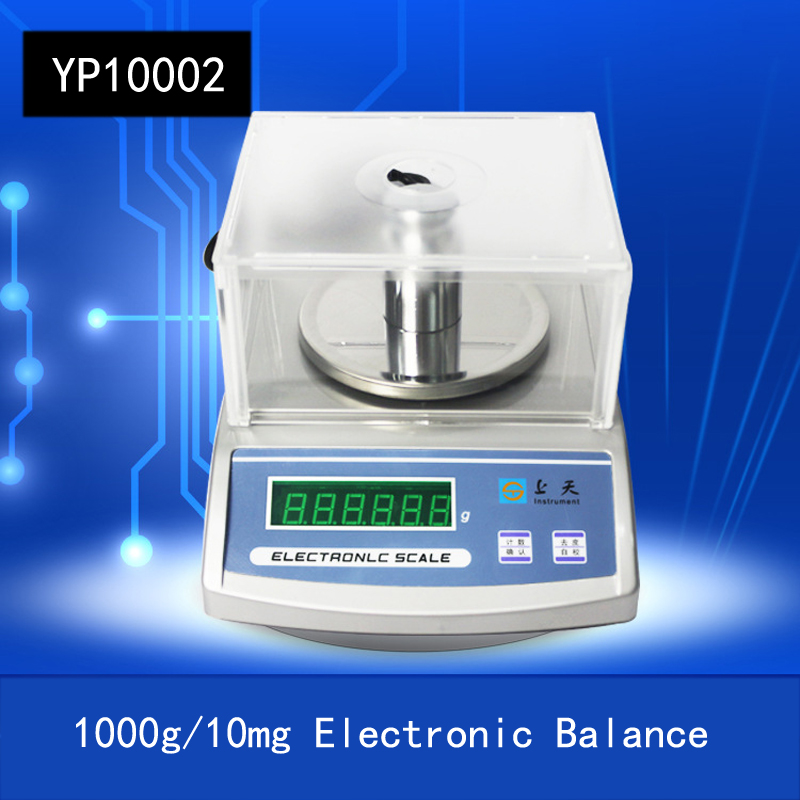 YP10002 1000g/10mg High Precision LCD Display Screen Electronic Balance 0.01g Accuracy