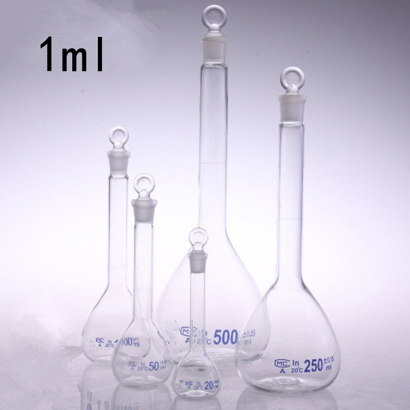 1ml Class A Transparent Volumetric Glass Flask High Borosilicate Volumetric Flask The Quantitative Bottle