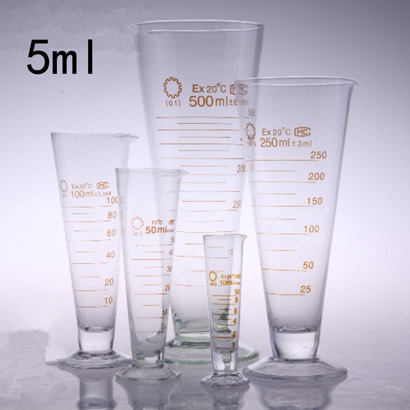 5ml Transparent Glass Measuring Cup Half line Scale Measuring cups