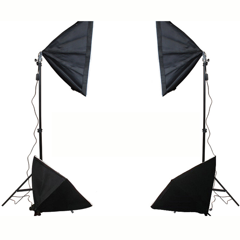 4 Single Lamp Softboxes Photo Studio Equipment Set