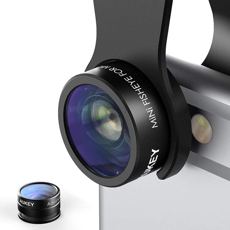 Fashion Optic iPhone Lens 160 Fisheye Lens + 20x Macro Mini Clip-on Cell Phone Camera Lenses Kit for Samsung Apple &More Phone