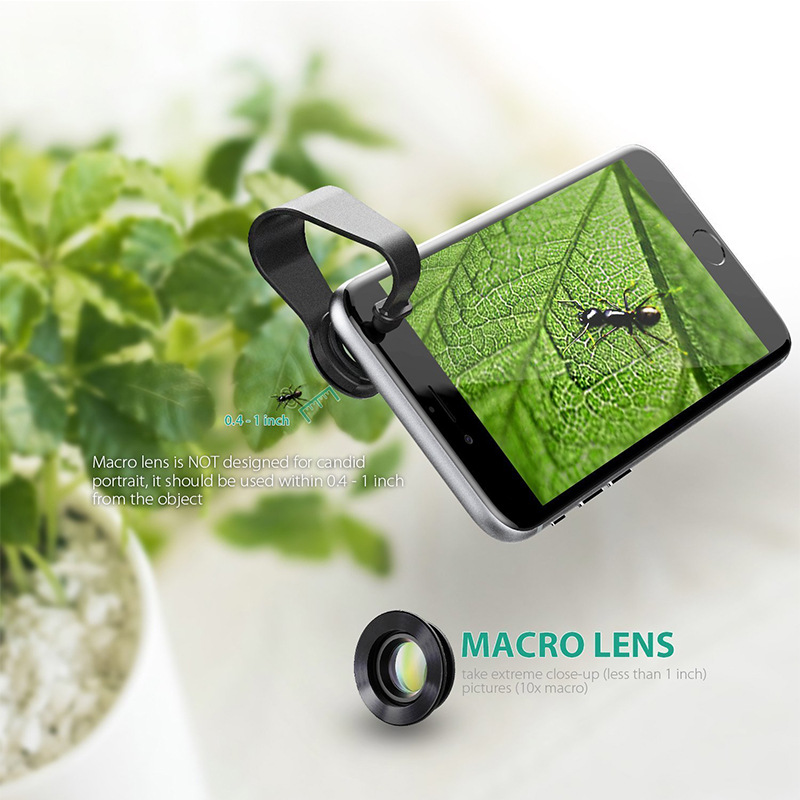 NEW!180 Degree Fisheye Lens + Wide Angle + Macro Lens 3in 1 Clip-on Cell Phone Camera Fish Eye Lens for Xiaomi & other Device