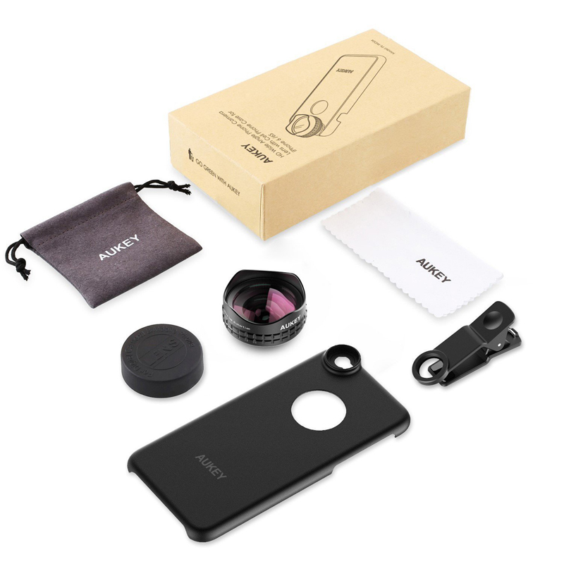 Top Optic Pro Lens 18MM HD Wide Angle Cell Phone Camera Lens Kit 2X More Landscape for iPhone PL-WD03