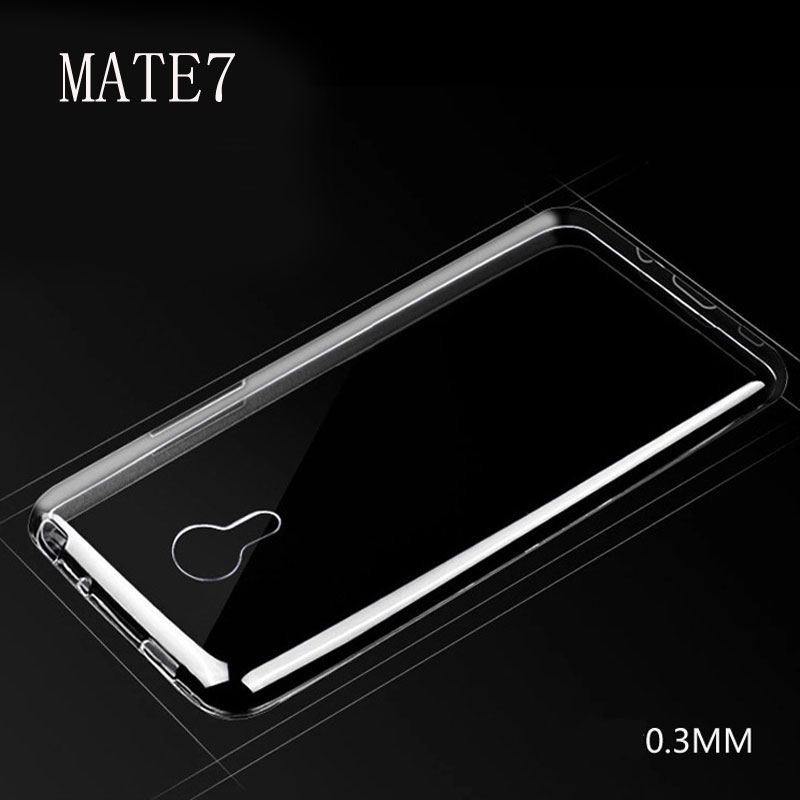 For Huawei Case UltraThin Transparent Soft TPU Back Cover Screen Protector Tempered Glass Film