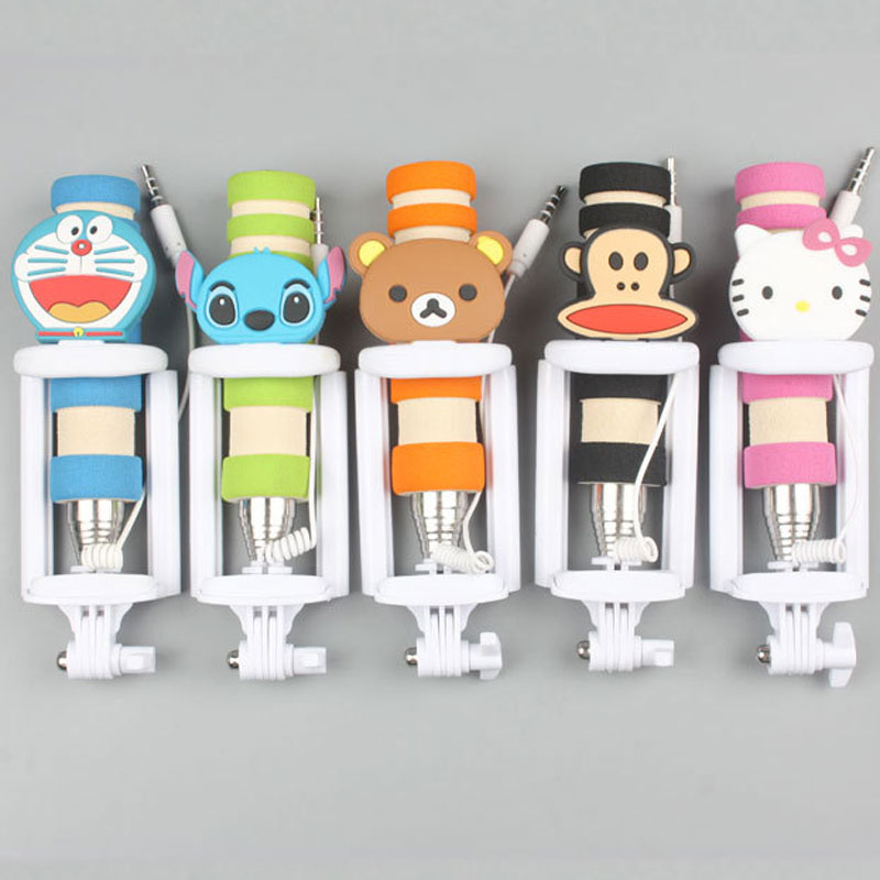 Cartoon mini self-timer Spring line self-timer For Apple iphone