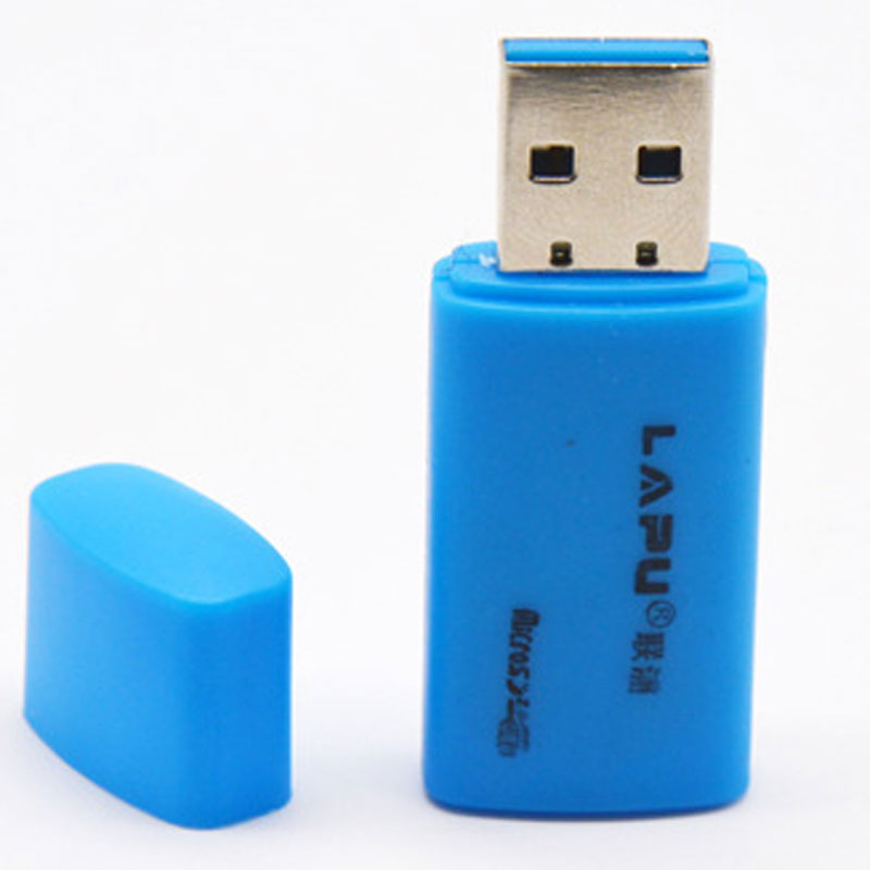 Mini USB 2.0 Card Reader for Micro SD Card TF card Adapter Plug and play colourful