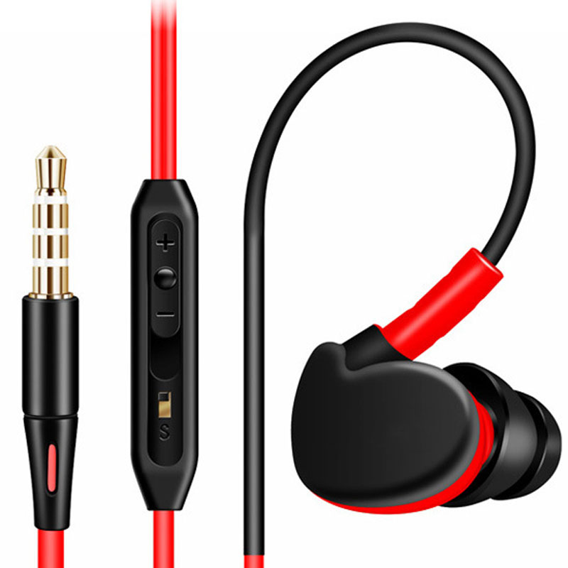 NEW Original Sport Headphones Super Bass Earphone Waterproof 3.5mm Stereo Headset In-ear Running Earphones With Mic Earbuds