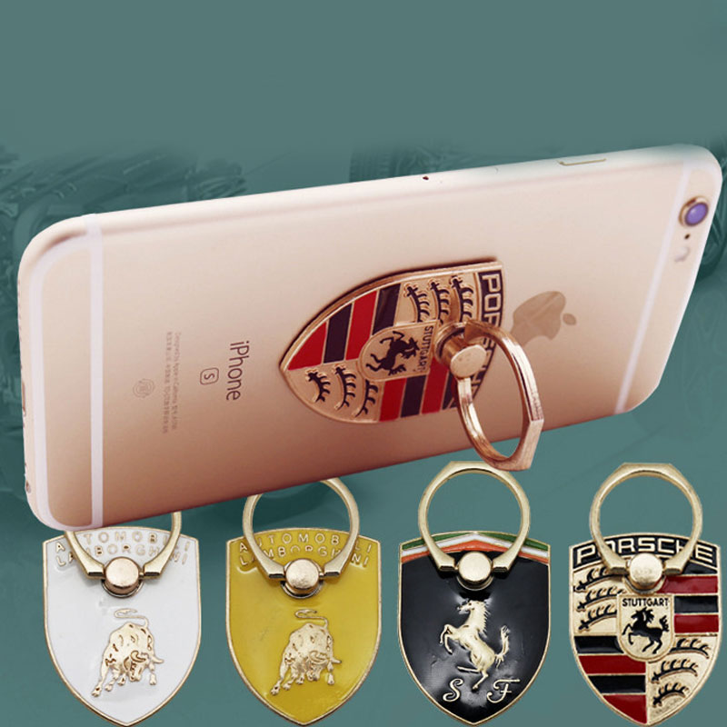 NEW Crown metal inlaid diamond ring buckle multifunction creative lazy fall proof folding type mobile phone holder