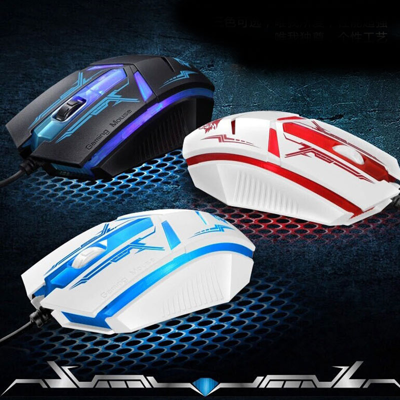 NEW Wired mouse breathing light emitting cool colorful games, sports usb laptop mouse