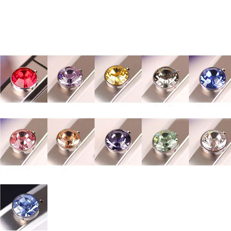 Crystal Bling Diamond 3.5mm Cell Phone Earphone Jack Anti Dust Plug For ipad,iphone,ipod, Samsung, HTC