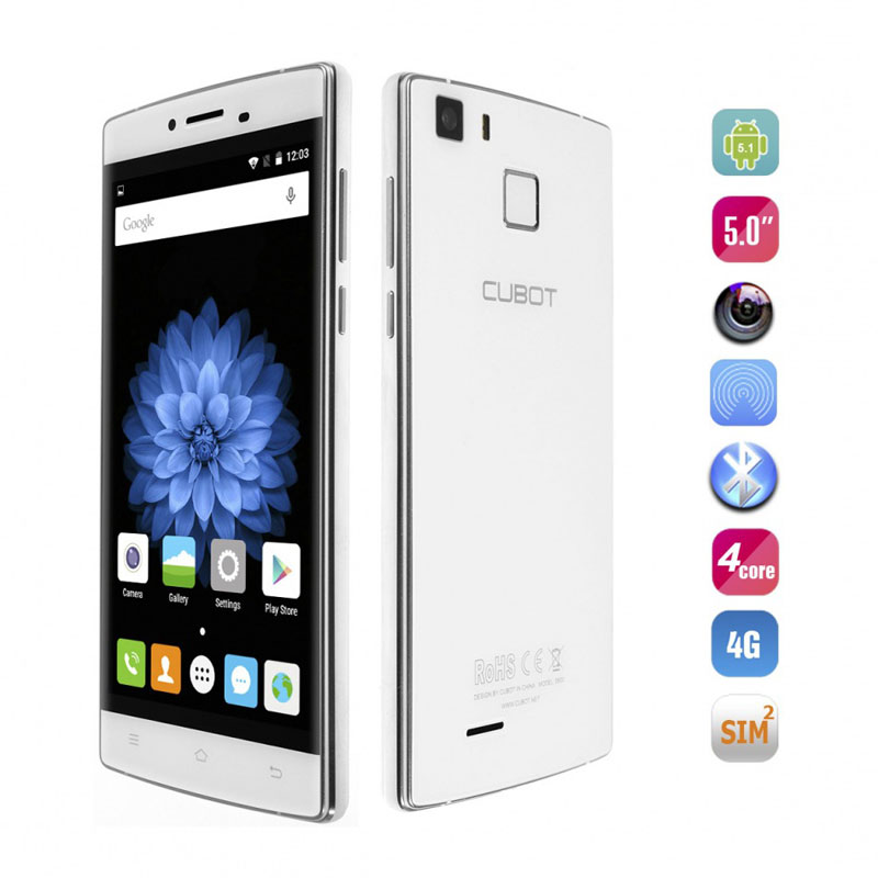 "Cubot S600 5.0"" 2+16G MTK6735A Quad Core Mobile Phone"