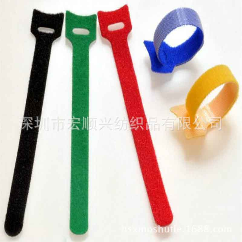 100pcs Utral-thin Back-to-Back band T type magic paste Charger strap cat head tie