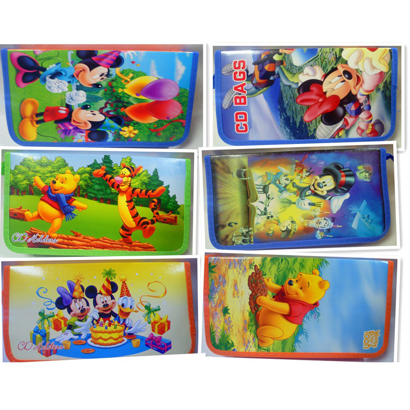Practical High-grade CD Bag Car CD Square Cartoon CD