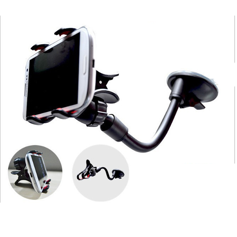 Double Clip Phone/GPS Holder for Car Universal Mobile Cell Phone Mount Car Holder Stand