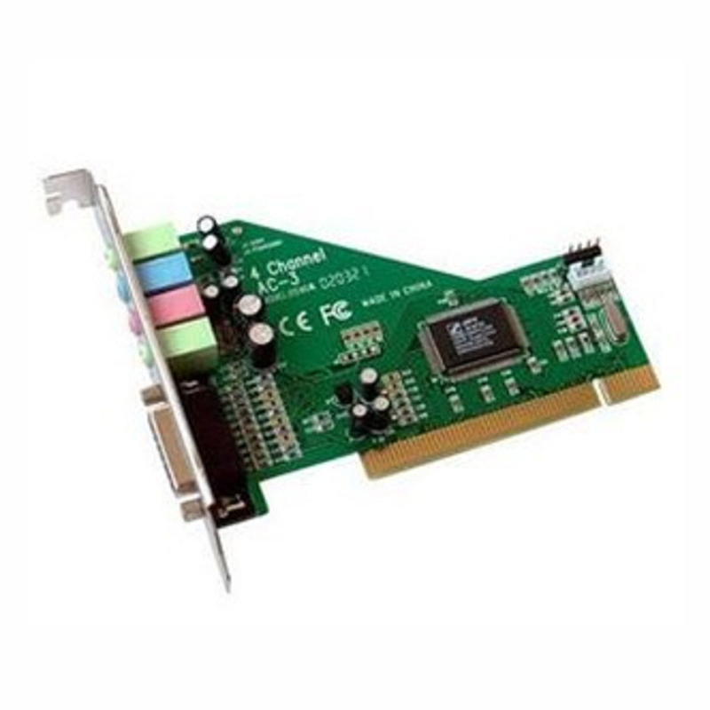 Hot Sell 4 Channel 5.1 Surround 8738 Chip 3D Audio Stereo PCI Sound Card Win10