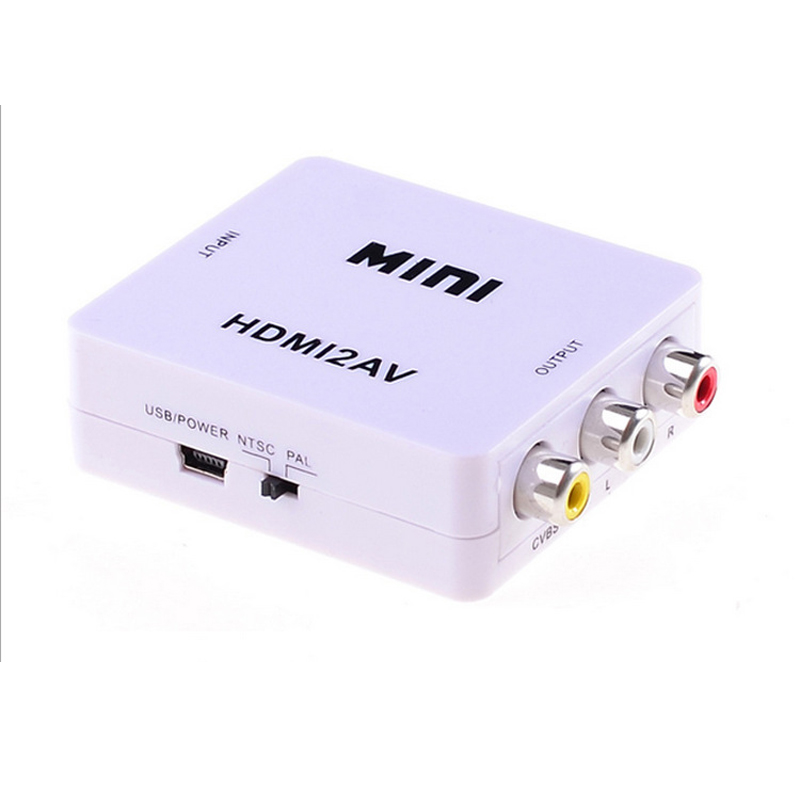 Hot HDMI to AV Composite RCA CVBS Video Audio Signal Converter For TV PS3 PS4 VHS VCR DVD Mini HDMI2AV HD Video Converter HD 108