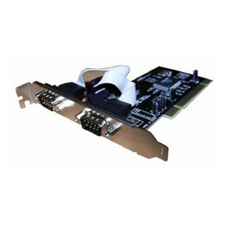 Dual Ports 9-Pin Serial RS232 DB9 PCI Express Card Com PCI-E to Serial Cards