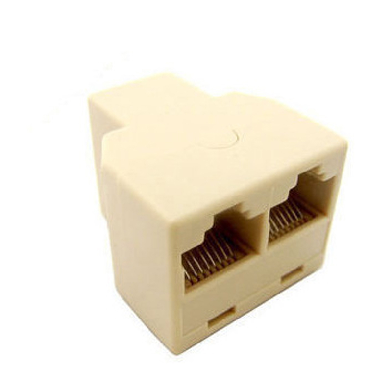 High Quality Cable Three Head Netcom RJ45 Network Cable Connector Cable Adapter