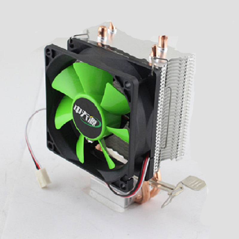 Hot 4 Pin Desktop Computer PC 2 Heatpipe Universal CPU Cooler Computer CPU Fans