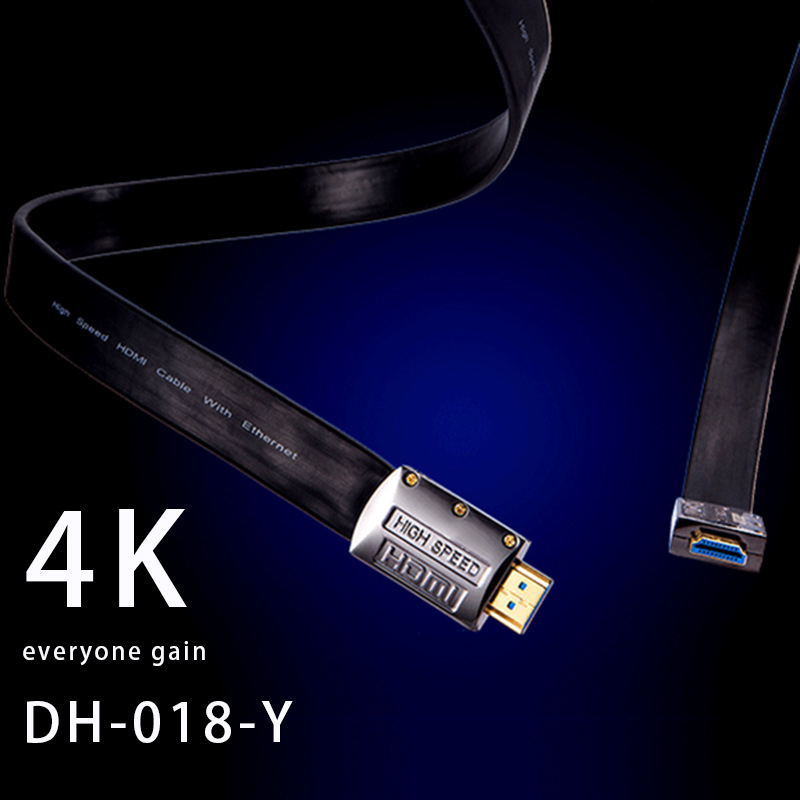 HDMI 2.0 Version HDMI Cable Male-Male Silver Plated HDMI Cable for HDTV 1080P 2K 4K 3D Ethernet DH-018-Y
