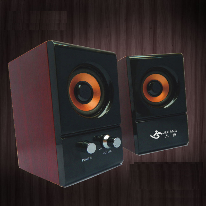 Mini Good Quality Wooden Loudspeaker for Desktop Computer JS-930
