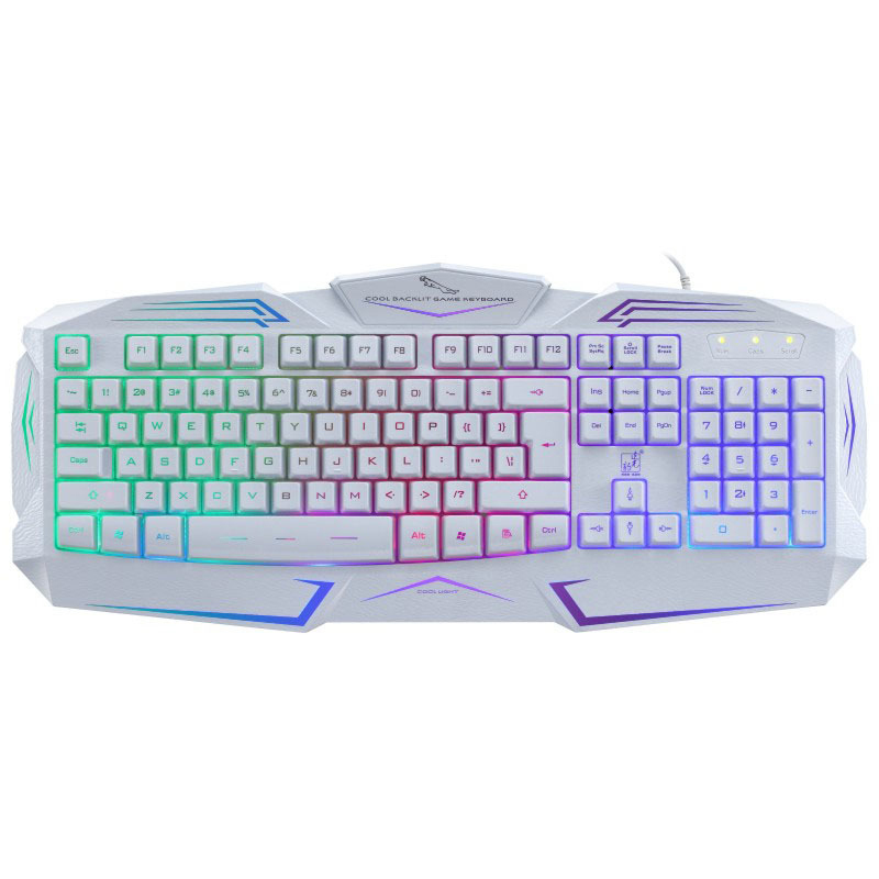 Rainbow Luminous Wired Keyboards for Desktop Computer G13