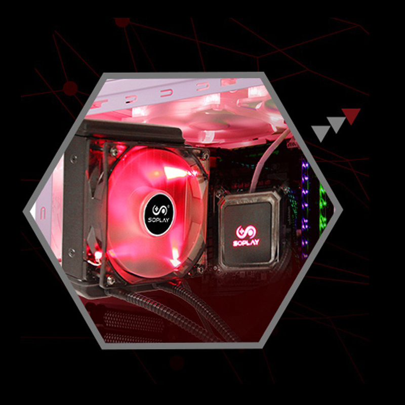 Top Quality Cuprum CPU Cooling Radiator Fans for Intel/AMD SP-C1207B