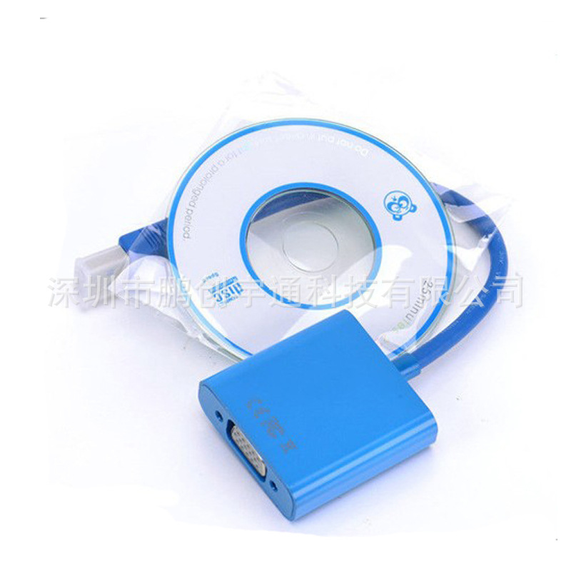 HOT USB 3.0 to VGA converter external graphics usb3.0 to vga HD conversion cable