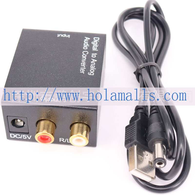 NEW Digital to analog digital coaxial fiber to analog audio converter Digital to Analog conversion