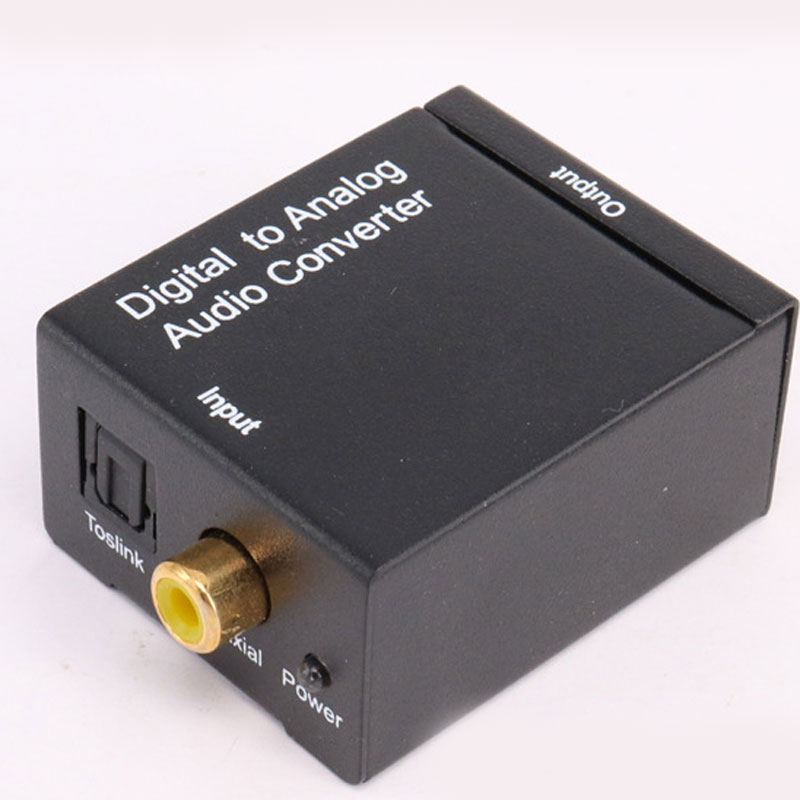 New Digital to Analog Audio Converter Adapter Digital Adaptador Optic