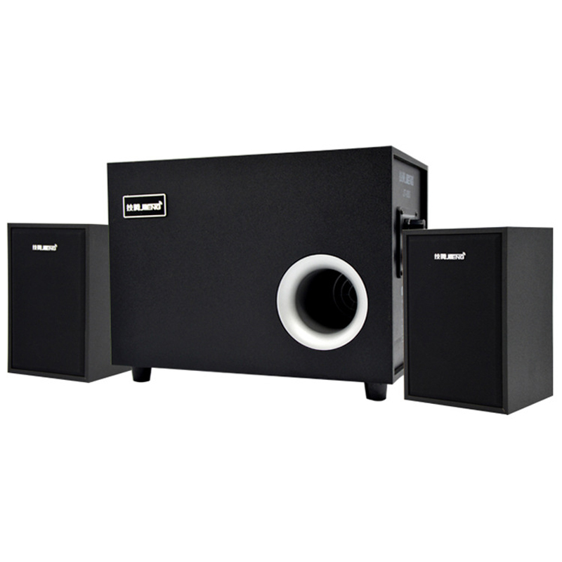 Hot Professional Multimedia USB Digital Square Wired Super Bass Stereo Speaker Subwoofer
