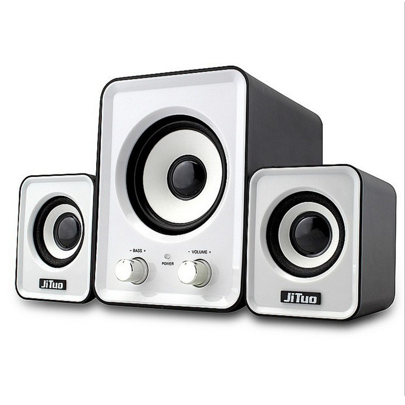Multimedia Mini USB Stereo Computer PC Desktop Laptop Speakers With Subwoofer