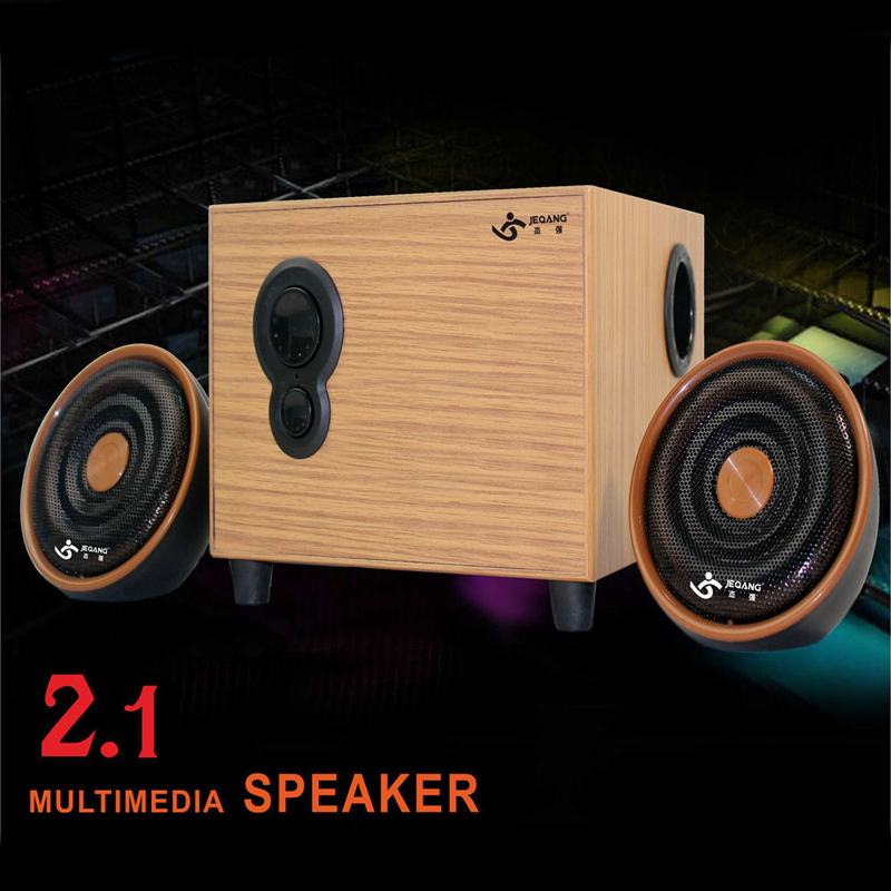Retro Wooden Sound Box Speaker Stereo Subwoofer For Computer